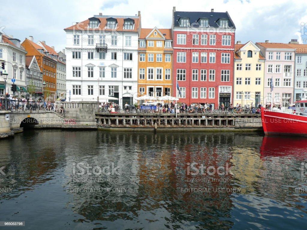 Nyhvan street of Copenhagen in Denmark zbiór zdjęć royalty-free