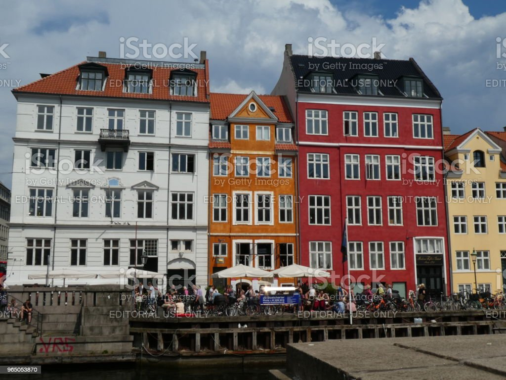 Nyhvan street of Copenhagen in Denmark royalty-free stock photo