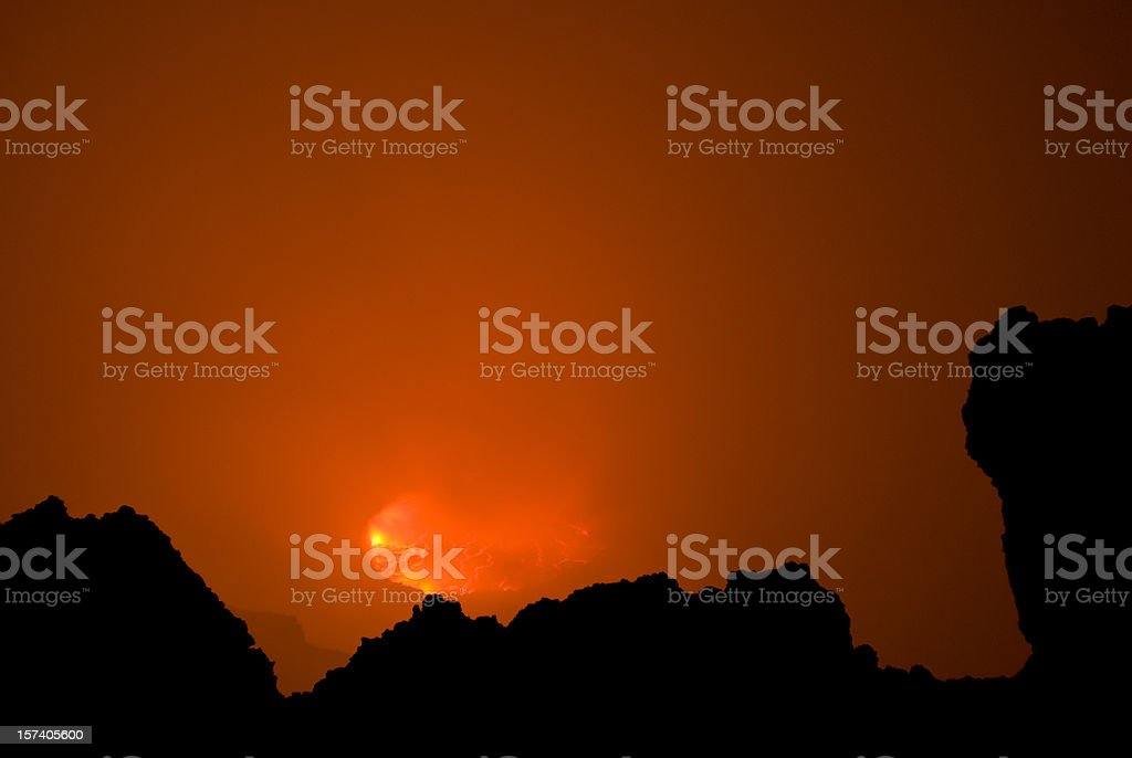 Nyiragongo vulcano: view into the heart of earth royalty-free stock photo
