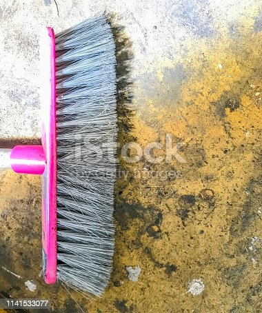 istock Nylon bristles floor brush 1141533077