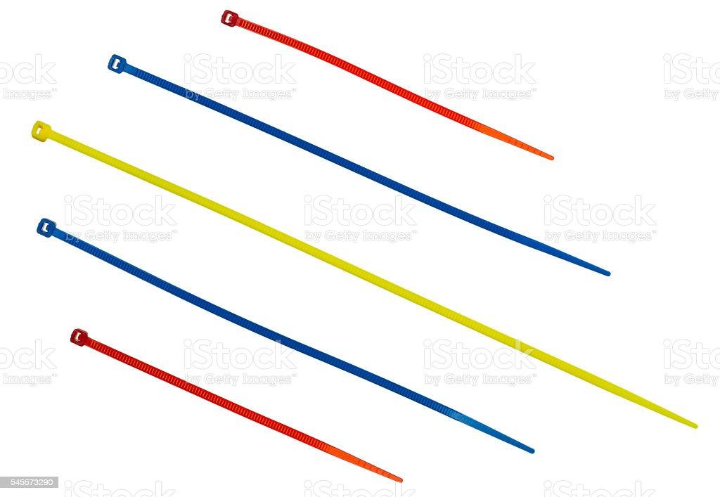 Nylon cable ties stock photo