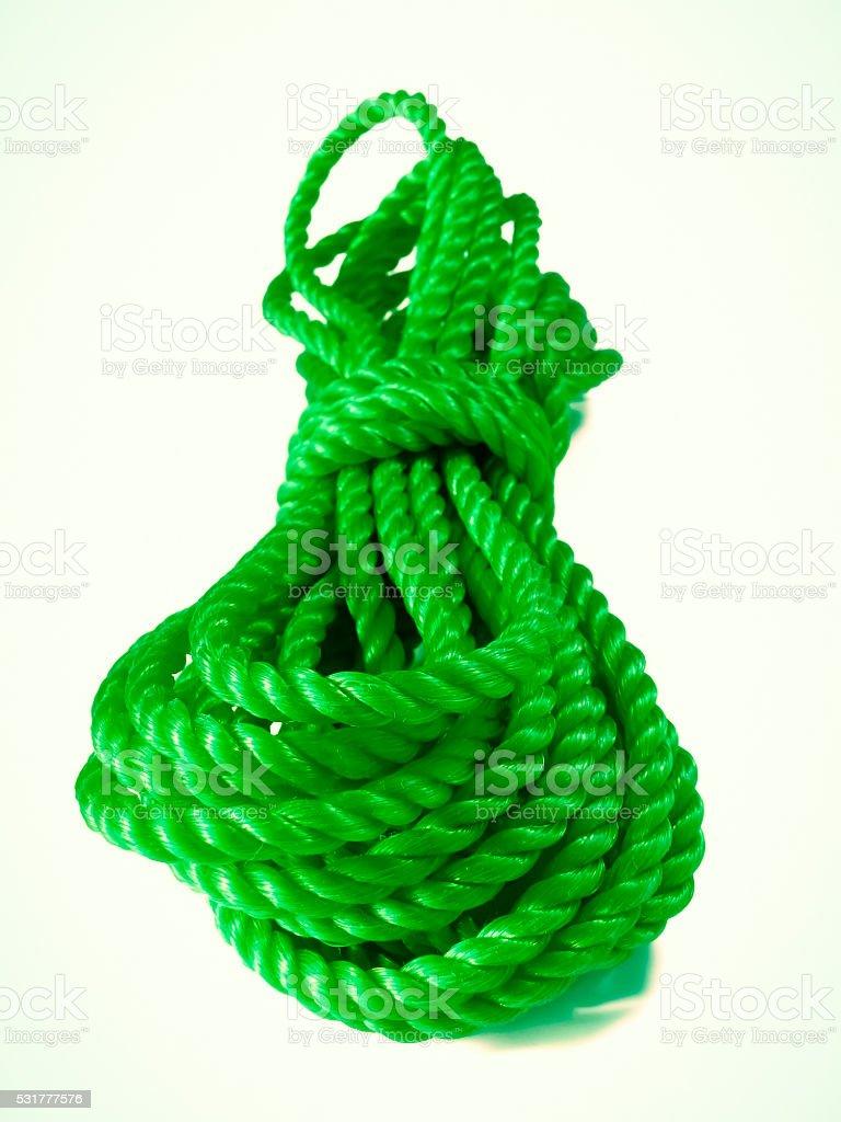 nylon heavy duty commercial quality rope stock photo