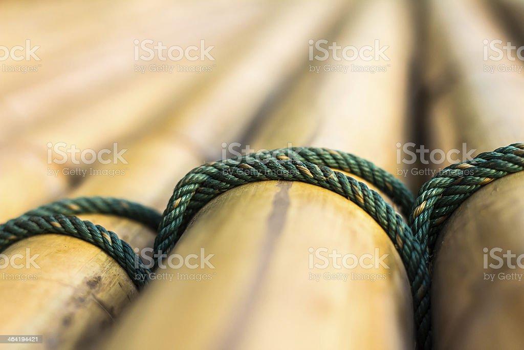 nylon rope tied stock photo