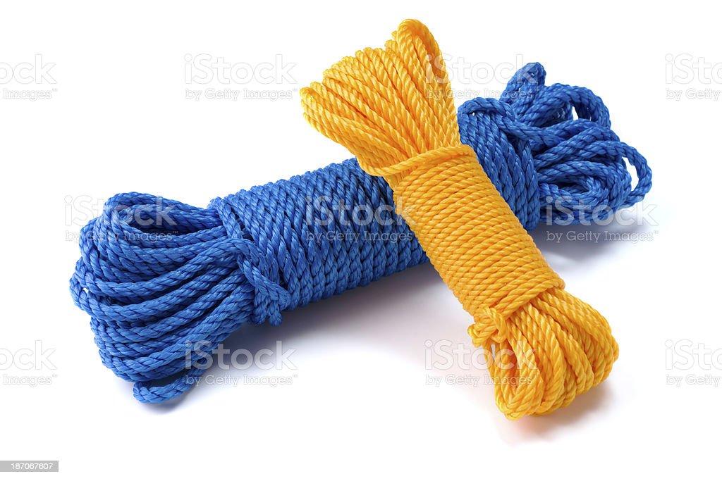 nylon ropes stock photo