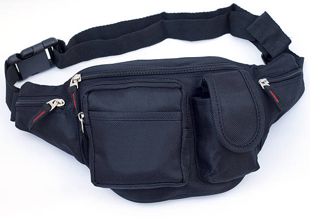 nylon waist pouch - waist bag stock photos and pictures