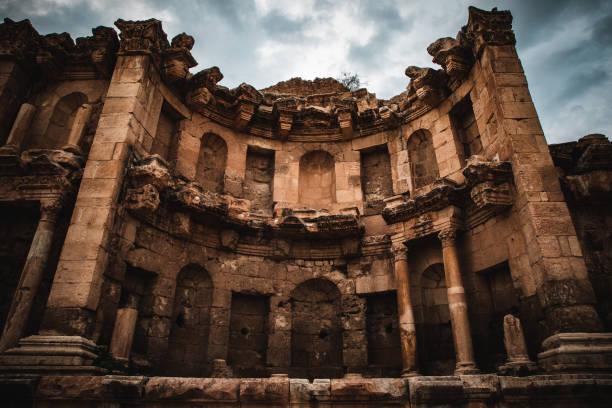 Nymphaeum at Jerash, Middle East, Jordan stock photo