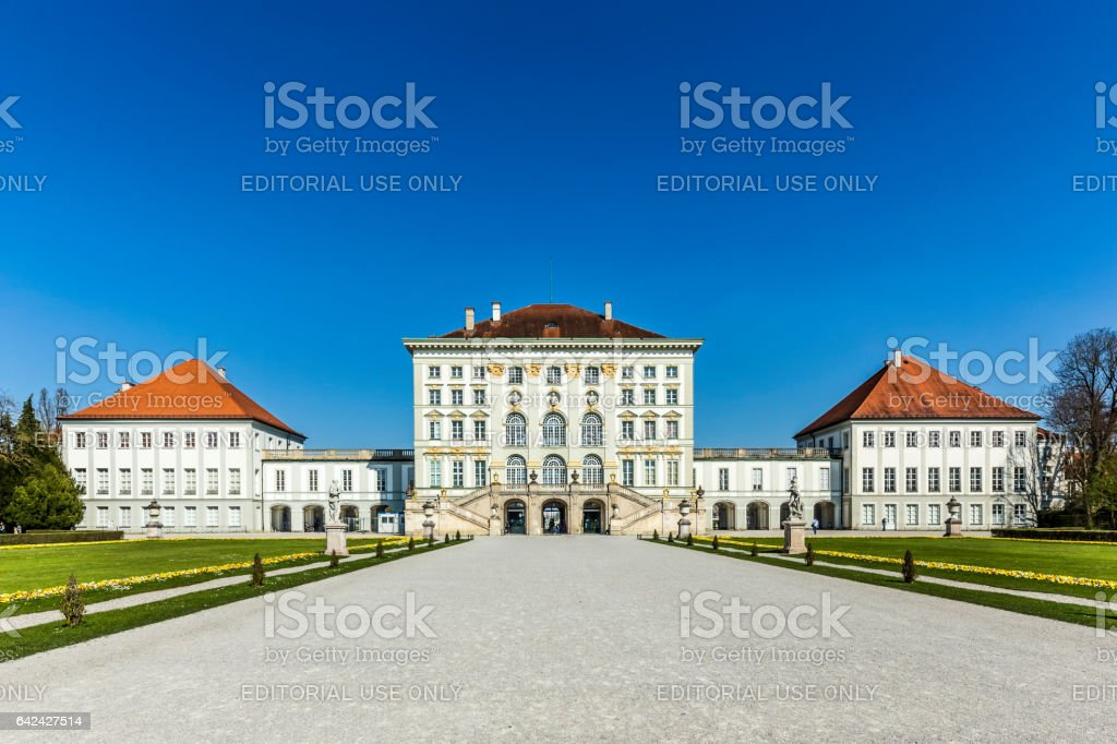 Nymphenburg castle grounds in Munich stock photo