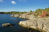 Nynäshamn Archipelago. Nynäshamn is located far south in Södertörn, 58 kilometers south of Stockholm.