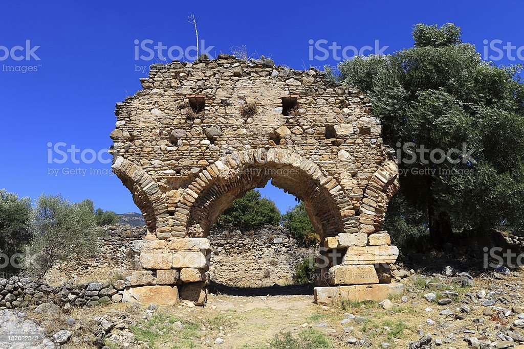 Nysa Ancient City in Aydin, Turkey royalty-free stock photo