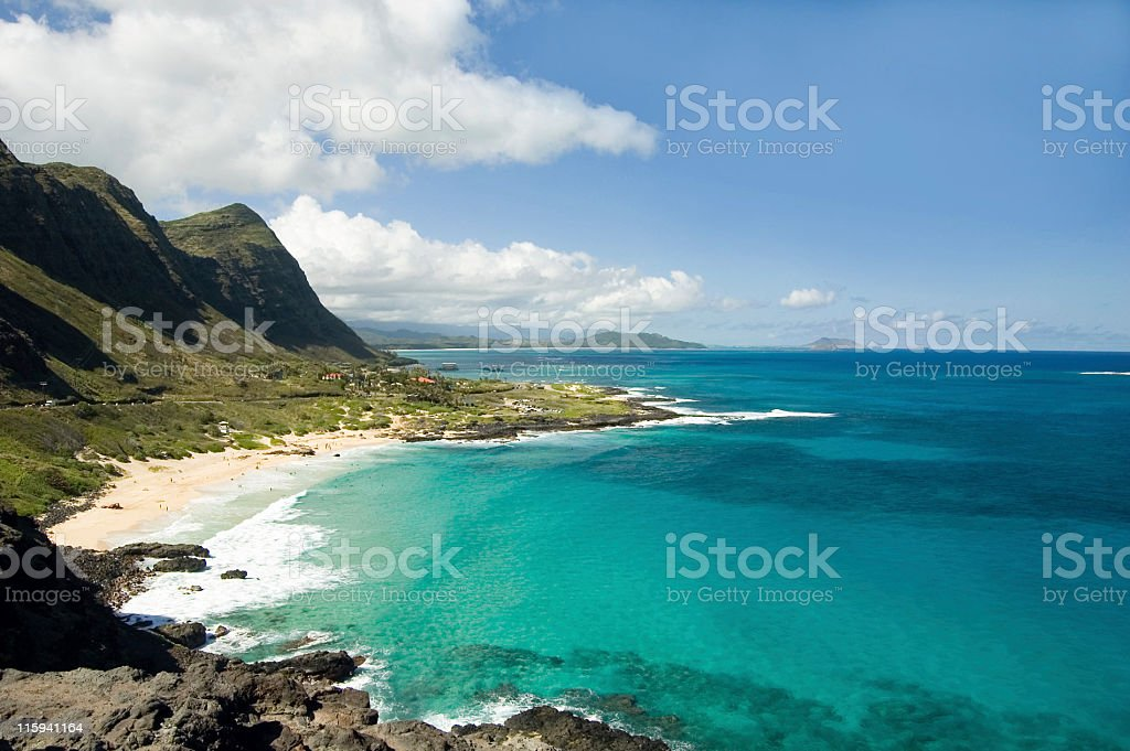 Oahu Panoramic Scenic View stock photo