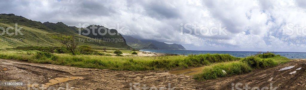 Oahu west coastline Hawaii stock photo