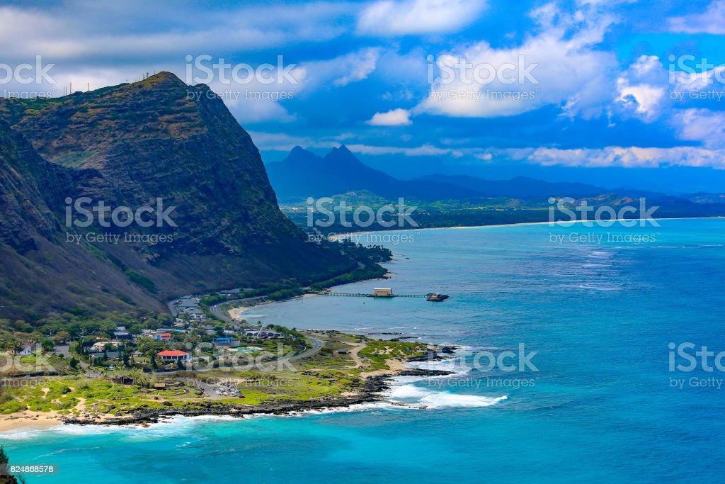 Oahu's Southwestern Coastline stock photo