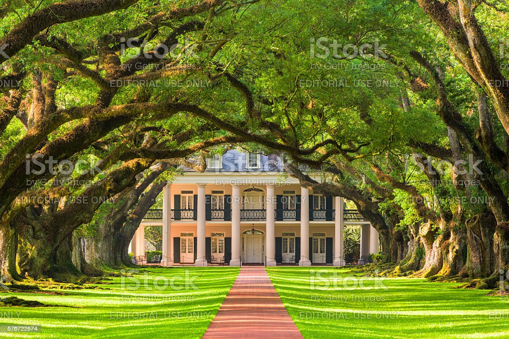 Oak Alley Plantation stock photo