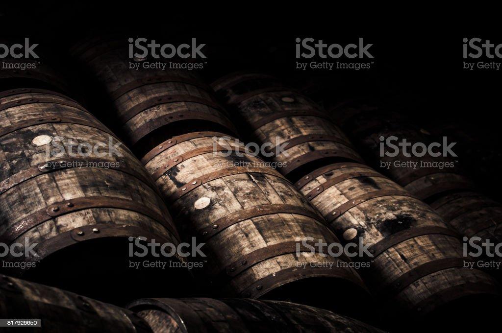 Oak barrels - foto stock