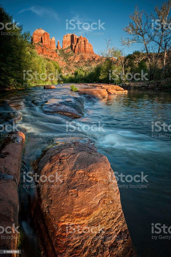 Oak Creek and Red Rocks stock photo