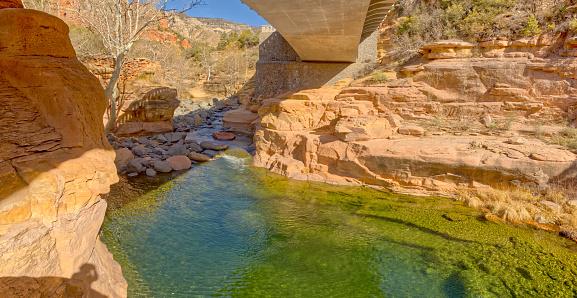 Oak Creek Below SR89 at Slide Rock Park AZ in Sedona, AZ, United States