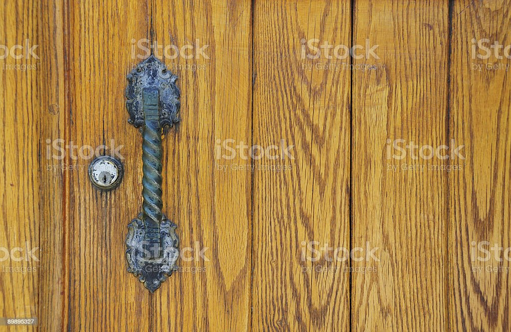 Oak door royalty-free stock photo