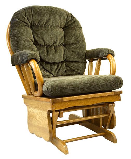 Oak Glide Rocking Chair stock photo