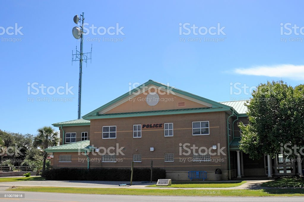 Oak Island Police Station stock photo