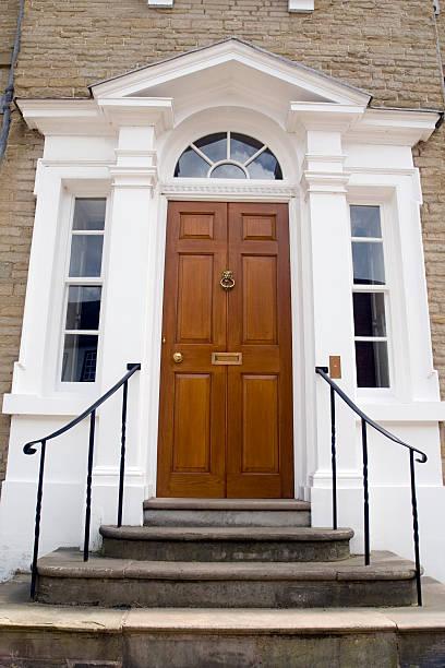 Oak Palladian Door stock photo