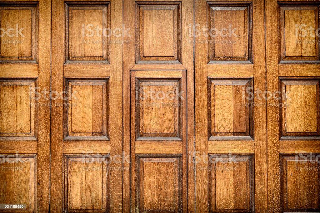 Oak Panneling stock photo