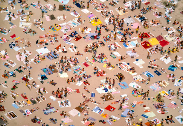 Oak Street Beach,Chicago stock photo