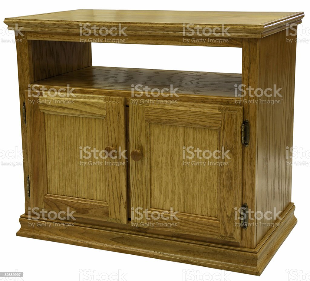 Oak TV Stand royalty-free stock photo