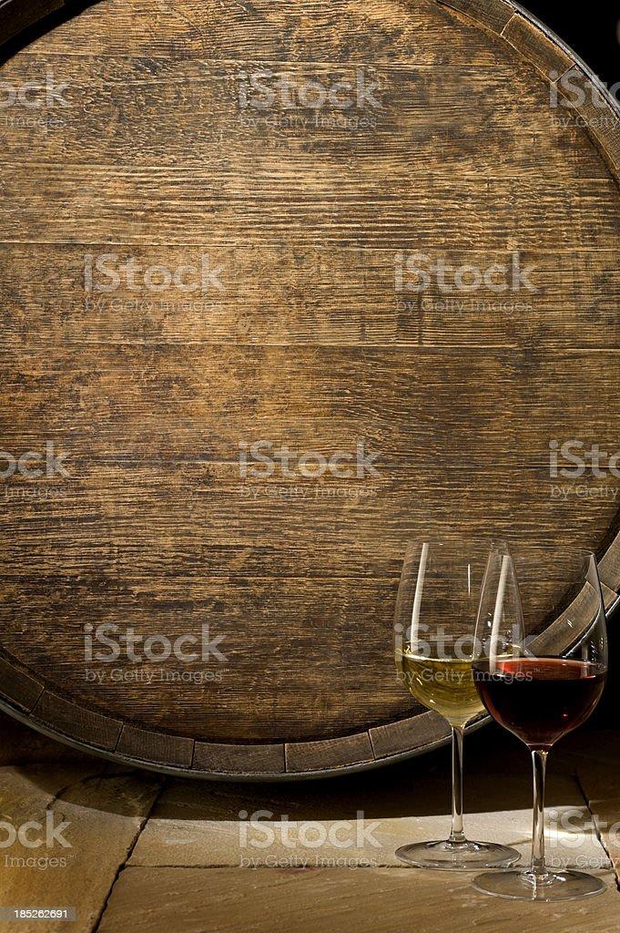 Oak Wine Barrel royalty-free stock photo