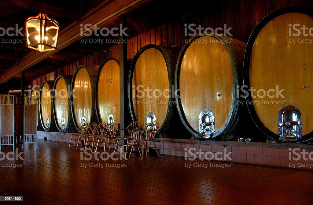 Oak Wine Barrels / Casks royalty-free stock photo