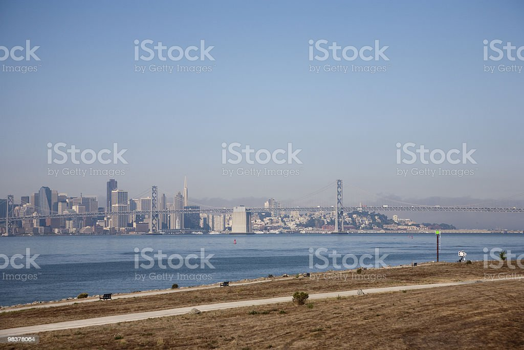 Oakland Bay Bridge foto stock royalty-free