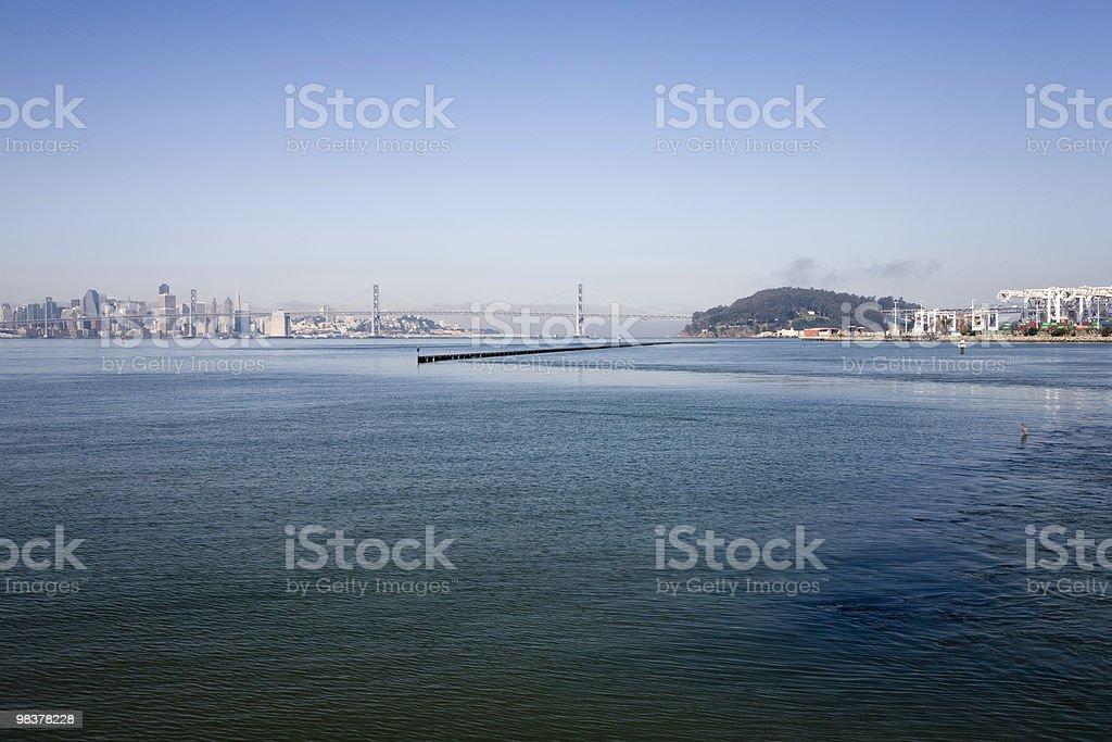 Oakland Bay Bridge royalty-free stock photo