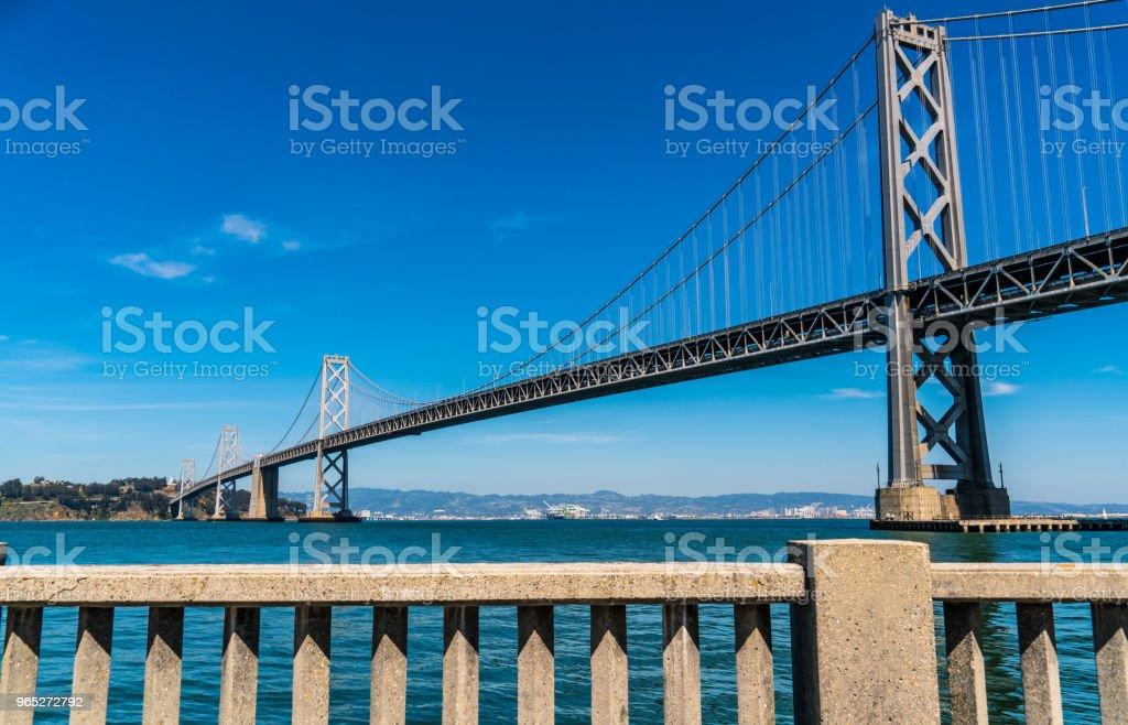 Oakland Bay Bridge to San Francisco , California Suspension bridge over the Bay Area May 2018 zbiór zdjęć royalty-free