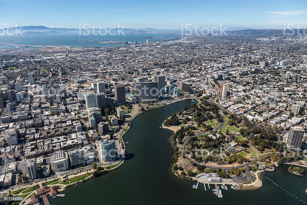 Oakland California Aerial View stock photo