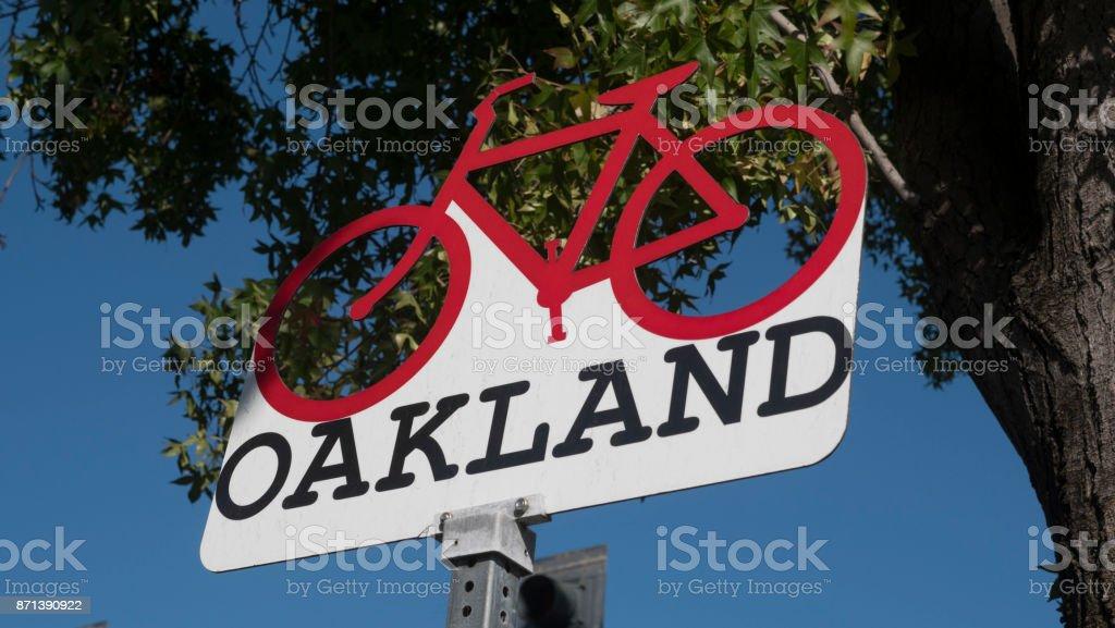 Oakland California Sign stock photo