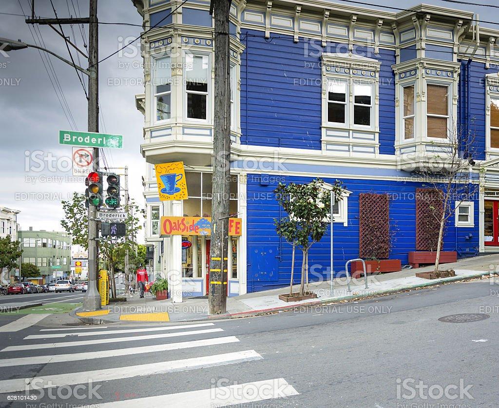 Oakside cafe stock photo