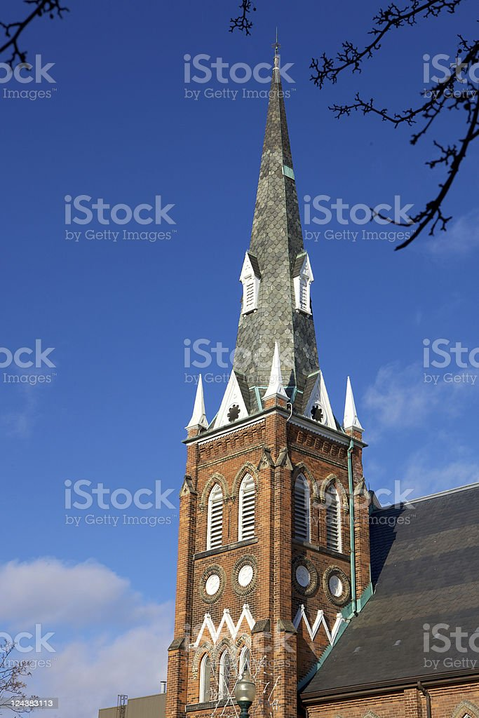Oakville, Canada - Church Steeple stock photo