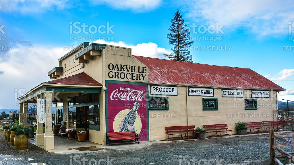 Oakville Grocery - Oakville, CA stock photo