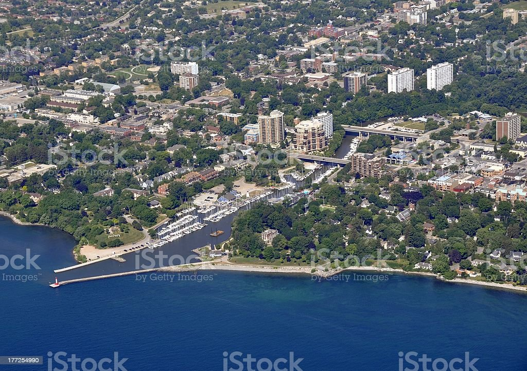Oakville Marina, aerial stock photo