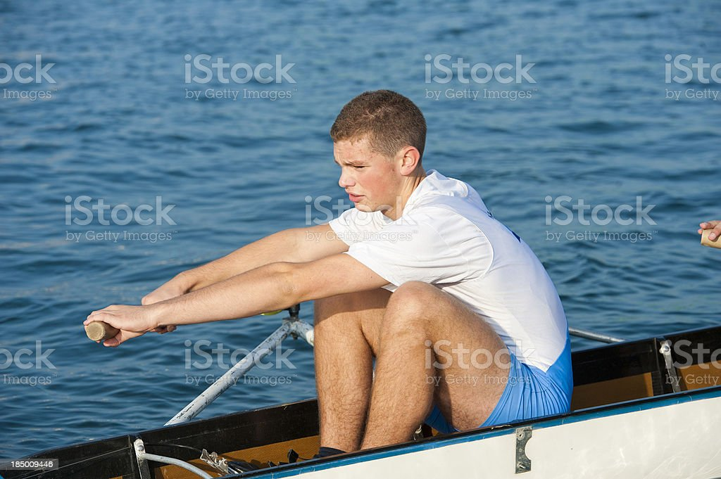 Oarsmen in the action stock photo