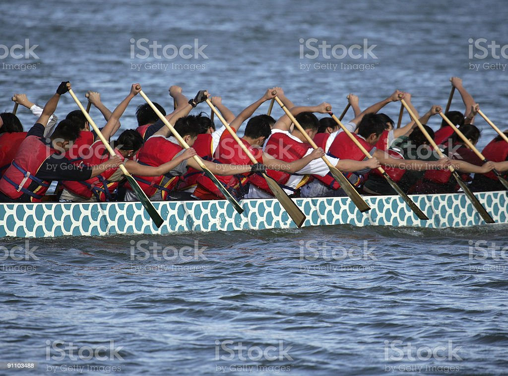 Oarsmen stock photo