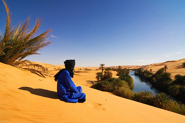 Oase Libya - Mandara Lakes stock photo