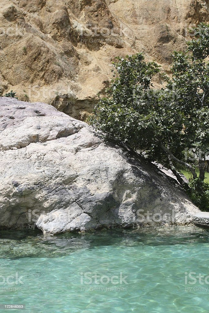 Oasis inside Canyon Del Colca stock photo
