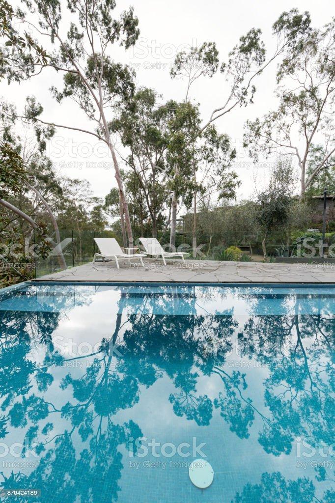 Oasis Of An Australian Home Backyard Swimming Pool ...