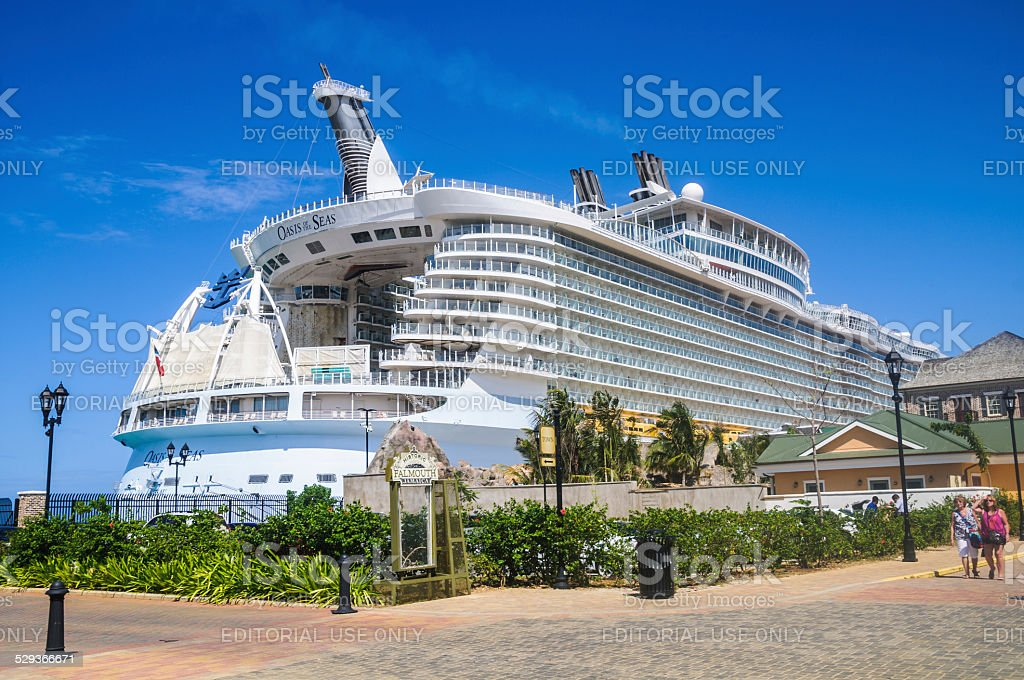 Oasis of the Seas in Falmouth, Jamaica stock photo