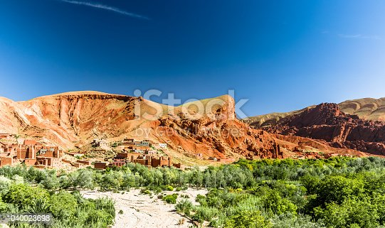 istock Oasis of Tinerhir next to Todra valley in Morocco 1040023698