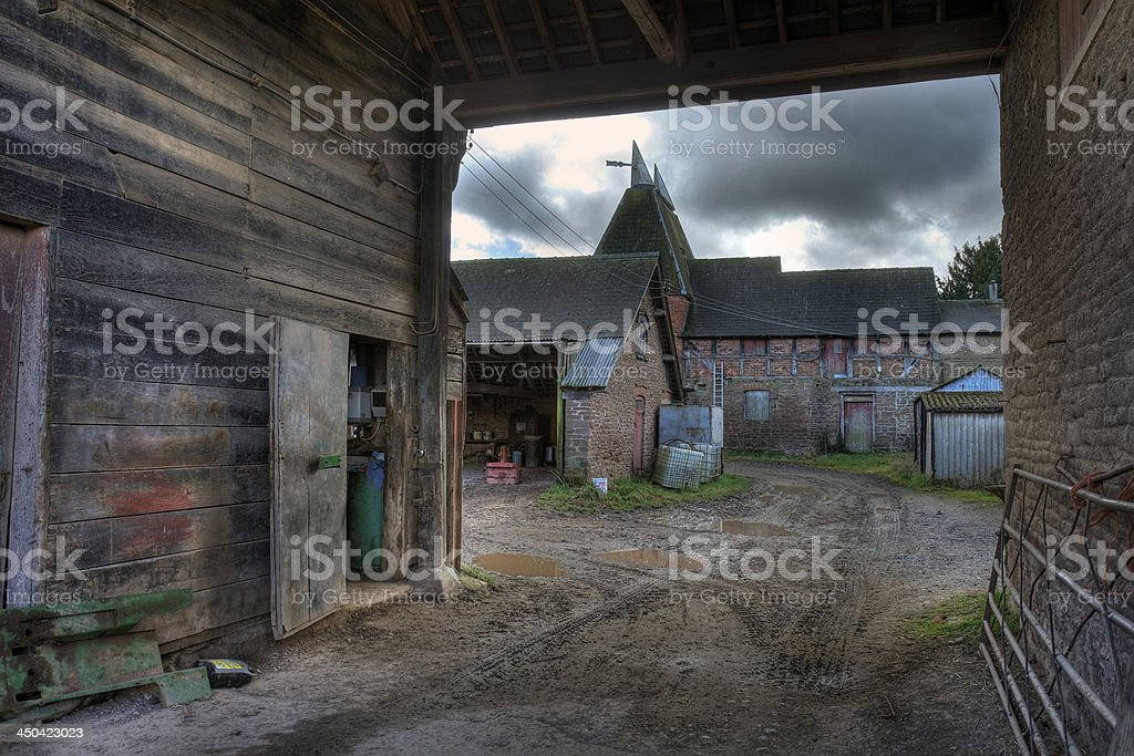 Oast House, Herefordshire stock photo