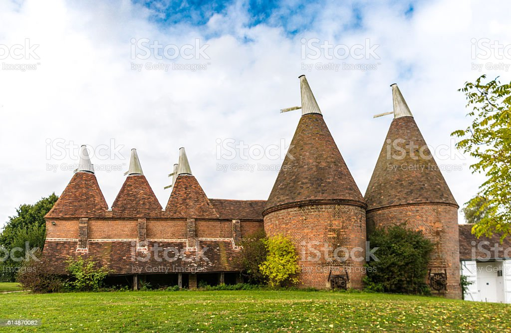 Oast House in Kent stock photo