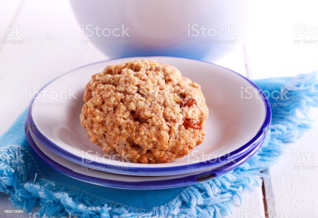 Oat and raisin biscuits 免版稅 stock photo