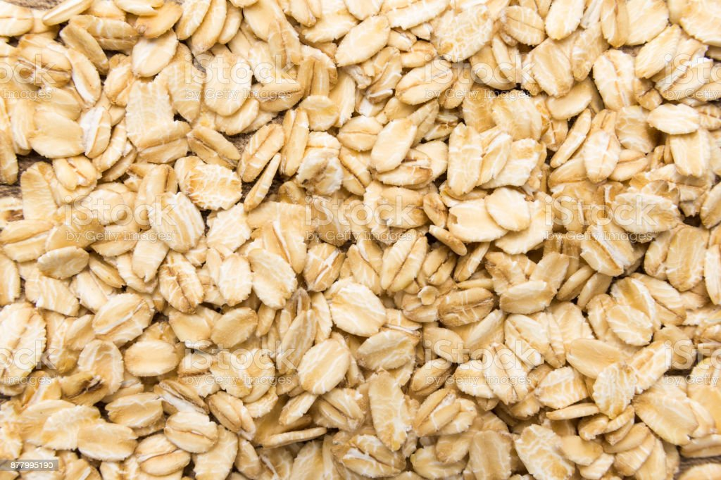 Oat cereal grain. Closeup of grains, background use. stock photo