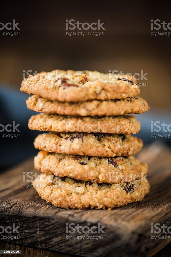 oat cookies, healthy sweet treat stock photo